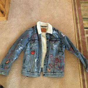 Custom Star Wars Levi's Denim Sherpa Jacket